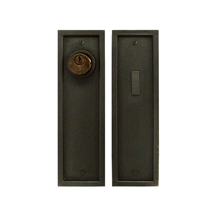 Solid Bronze Pocket Door 10 inch Entry Set