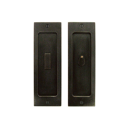 Solid Bronze Pocket Door 8 inch Privacy Set