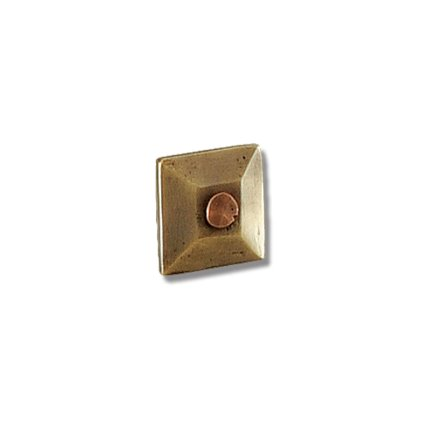 Solid Bronze Wall Pyramid 1 Inch Clavo