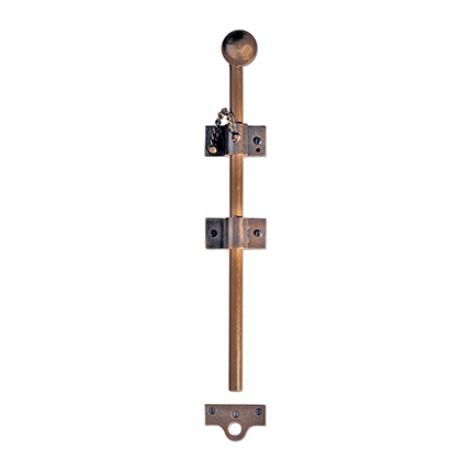 Solid Bronze 18 inch Surface Bolt