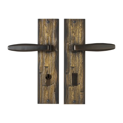 Solid Bronze Amalfi Handle Euro Mortise Set