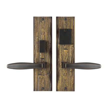 Solid Bronze Amalfi Handle Mortise Set