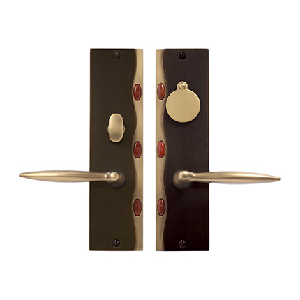 Solid Bronze Cayman Royale Lever Mortise Entry Set in Brushed Bronze