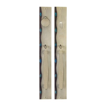 Solid Bronze Cayman Royale Thumblatch Mortise Entry Set