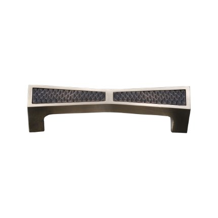 Solid Bronze Grande Manhattan 5 inch Cabinet Pull in Natural White