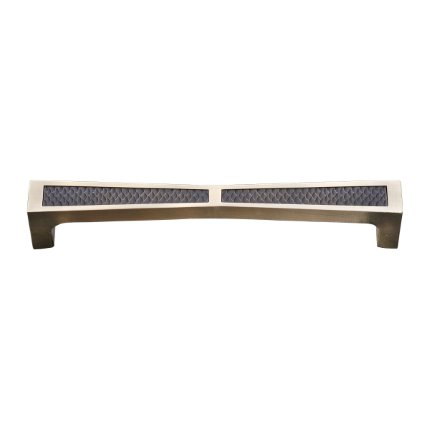 Solid Bronze Grande Manhattan 8 inch Cabinet Pull in Natural White