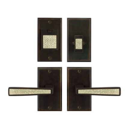 Solid Bronze Grande Manhattan Handle Deadbolt Set