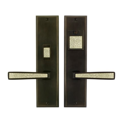 Solid Bronze Grande Manhattan Handle US Mortise Set 10 inch