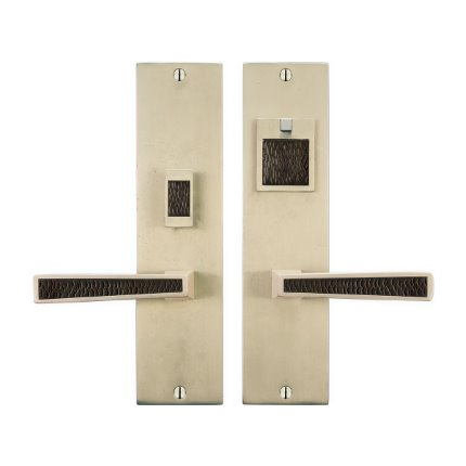 Solid Bronze Grande Manhattan Handle US Mortise Set