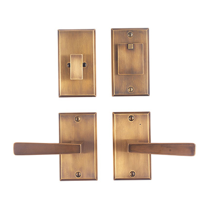 Solid Bronze Manhattan Lever Deadbolt Entry