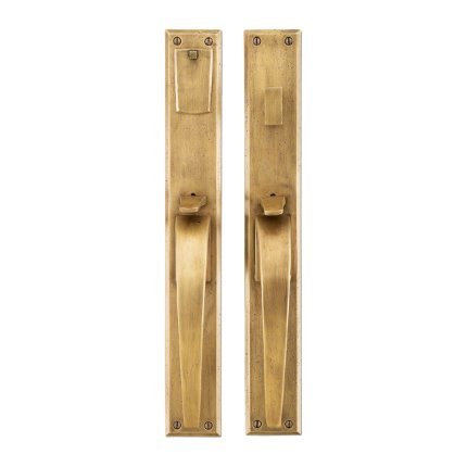 Solid Bronze Manhattan Thumb Latch Mortise Set