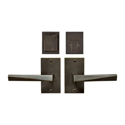 Solid Bronze Milan Lever Deadbolt Entry Set