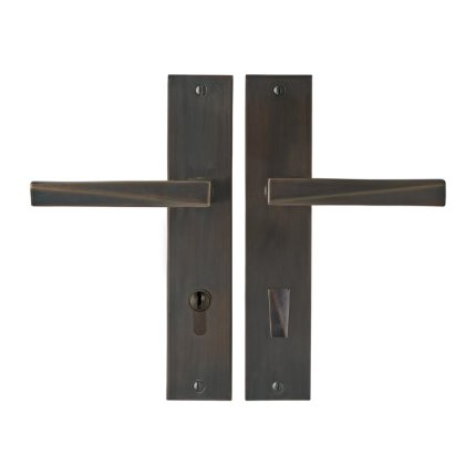 Solid Bronze Milan Lever Multipoint Entry Set