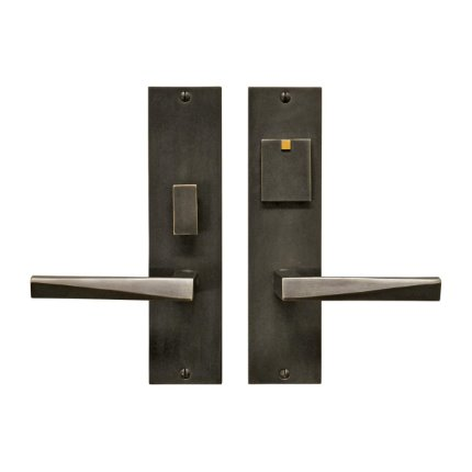 Solid Bronze Milan Lever Mortise Entry Set