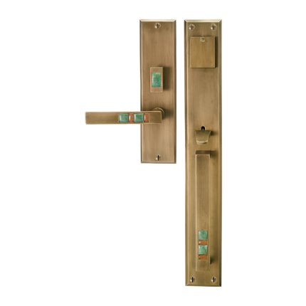 Solid Bronze Scottsdale Royale Thumb Latch Handle Mortise Set