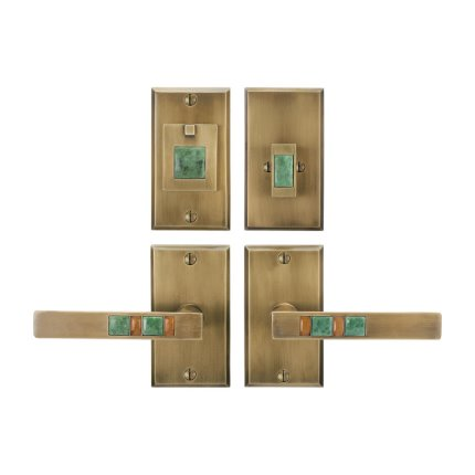 Solid Bronze Scottsdale Royale Lever Deadbolt Entry Set