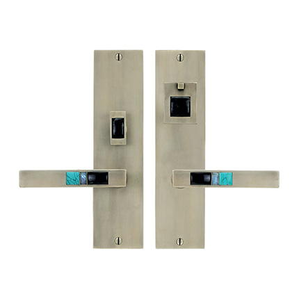Solid Bronze Scottsdale Royale Lever Mortise Entry Set in Pewter White