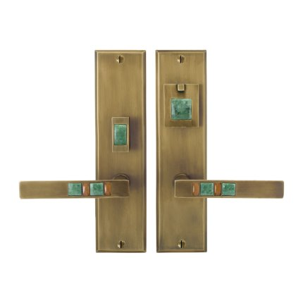 Solid Bronze Scottsdale Royale Lever Mortise Entry Set in Khaki