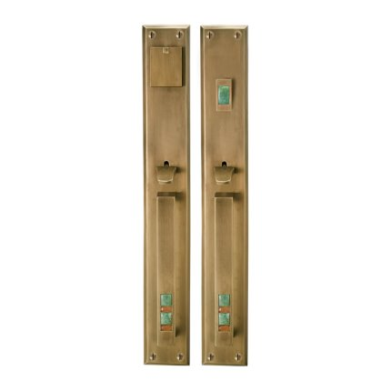 Solid Bronze Scottsdale Royale Thumblatch Mortise Entry Set