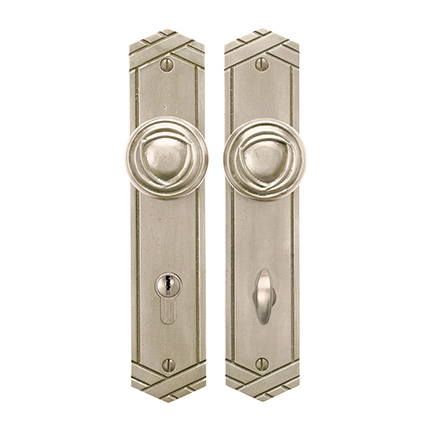 Solid Bronze Art Deco Knob Multipoint Entry Set