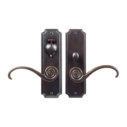 Solid Bronze Casa California Handle US Mortise Set