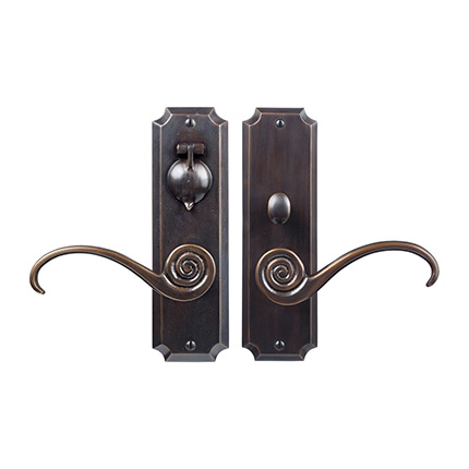 Solid Bronze Casa California Lever Mortise Entry Set