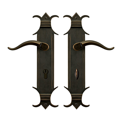 Solid Bronze Chateau Escutcheon Multipoint Entry Set
