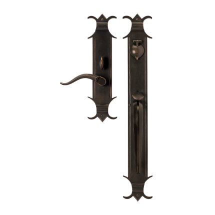 Solid Bronze Chateau Thumblatch Lever Mortise Entry Set