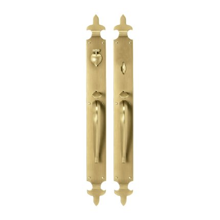 Solid Bronze Fleur de Lis Thumblatch Mortise Entry Set