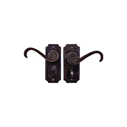 Solid Bronze Petite Casa California Lever Privacy Set