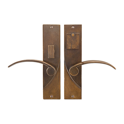Solid Bronze Soho Lever Mortise Entry Set