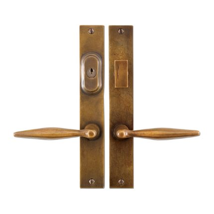 Solid Bronze Accent Lever Multipoint Entry Set