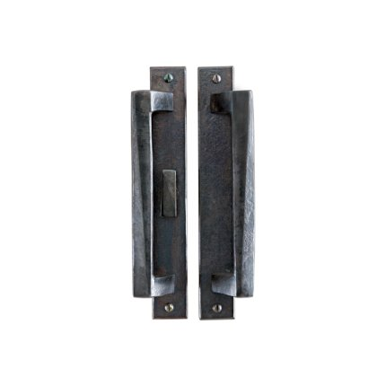Hand Forged Iron Milan 10 Inch Pull Sliding Door Set
