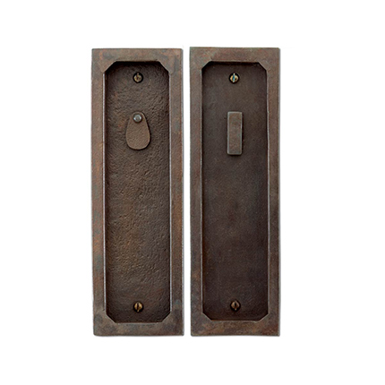 Hand Forged Iron 10 inch Pocket Door Privacy Set