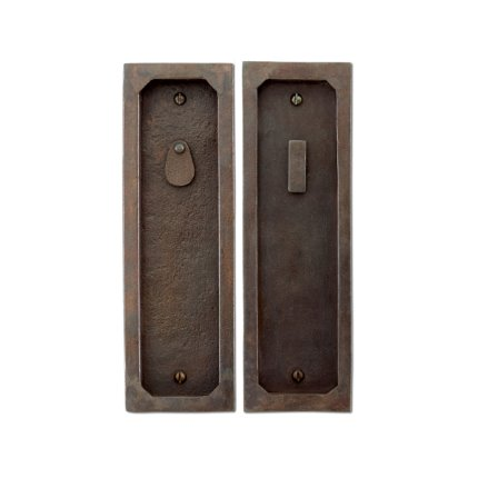 Hand Forged Iron Pocket Door Privacy Set