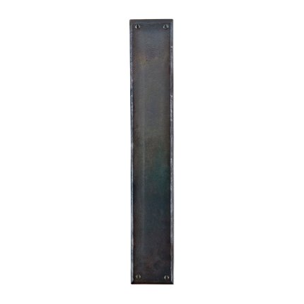 Hand Forged Iron Push 18 Inch Plate