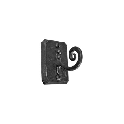 Hand Forged Iron Scroll Robe Hook