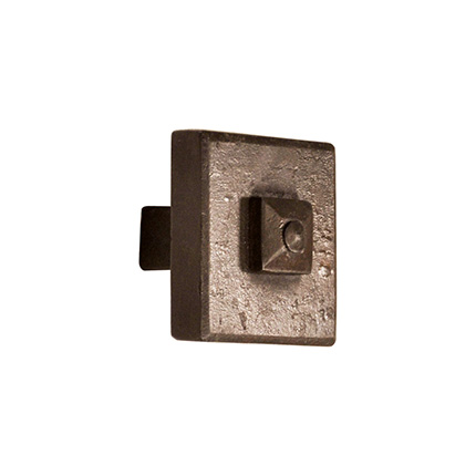 Hand Forged Iron Cody Square 1.5 inch Cabinet Knob