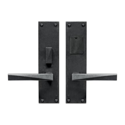 Hand Forged Iron Milan Lever Mortise Entry Set
