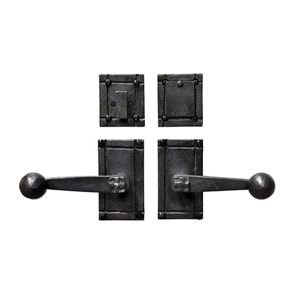 Hand Forged Iron Sierra Lever Deadbolt Entry Set