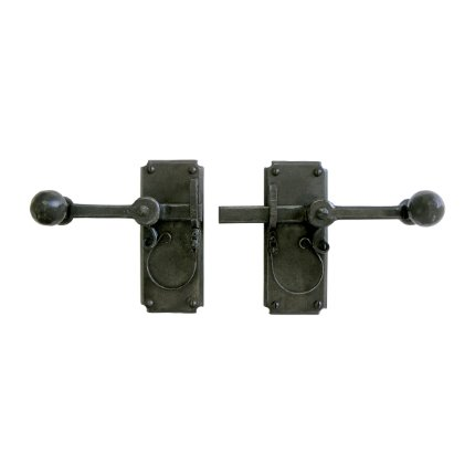 Hand Forged Iron Vertical Strike-bar Latch 7 inch Passage Set