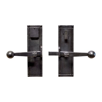 Hand Forged Iron Sierra Strike-bar Latch Deadbolt Entry Set