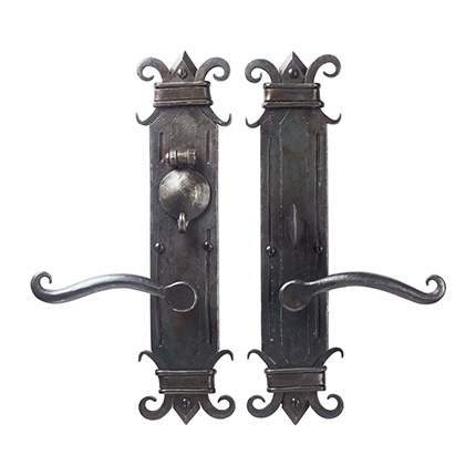 Hand Forged Iron Chateau Mortise Entry Set