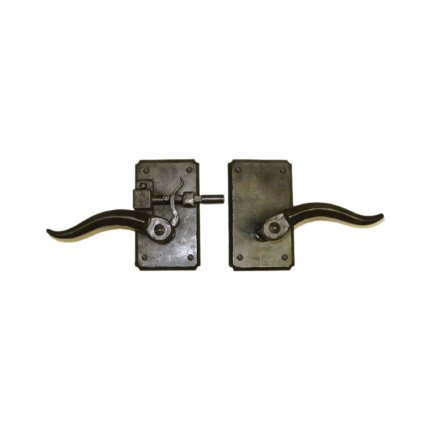 Hand Forged Iron Santa Barbara Latch Passage Set