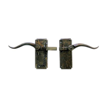 Hand Forged Iron 7 inch Vertical Strike Bar Latch Privacy Set