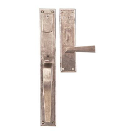 Hand Forged Iron Manhattan Thumblatch-Lever Mortise Entry Set